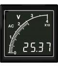 Panel meter 72x72 12-440VAC white no. on black backlit APMACV72-NTW