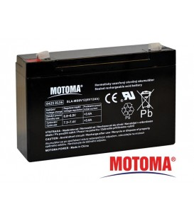 Baterie acumulator acid plumb sigilată 6V 12Ah MOTOMA MOTOMA 6V 12Ah