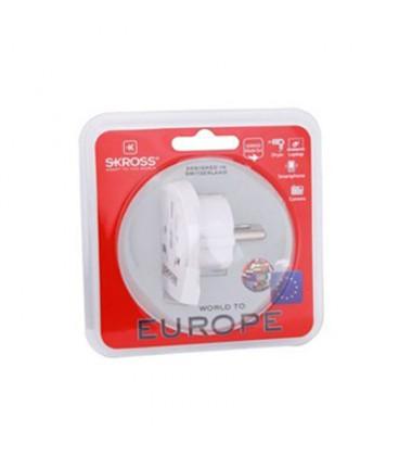Adaptor de călătorie SKROSS pentru străini în Romania, alb SKROSS WORLD TO EUROPE