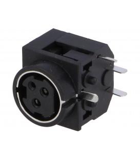 Soclu alimentare DC mamă PIN:3 THT 30VDC -20÷80°C PC-MDJ-401-3P