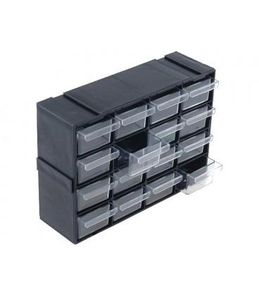 Set cu sertare 220x70x160mm polipropilenă Dotări:16 sertare SZUFLPL16