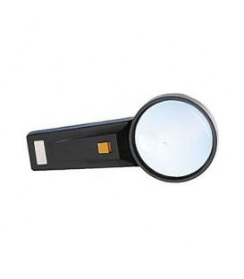 Lupa de mana cu iluminare led diametru lentila 75mm P343