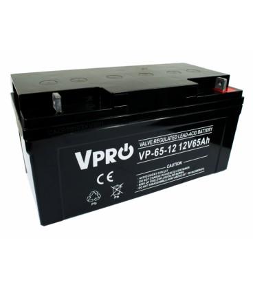 Baterie Acumulator VPRO 65 Ah 12V AGM VRLA