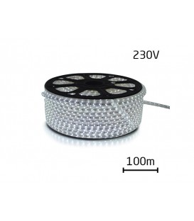 Banda LED Flux  230V, 3528 60 LED / m IP67 max. 4.8W / m alb rece BANDA_LED_IP67_3528_230V