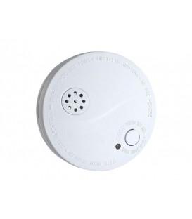 Senzor detector de fum si alarma 85dB, alb + baterie 9V 1D33