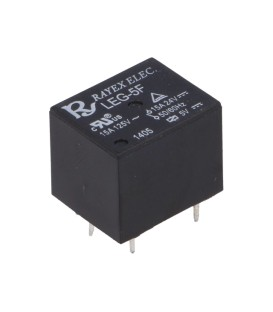 Releu: electromagnetic SPDT Ubobină:5VDC 15A/120VAC 15A/24VDC LEG-5F
