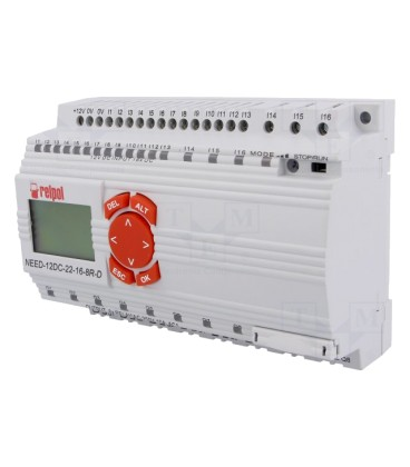 Relay 16input/8output relay power 12VDC, keypad NEED12DC22168RD