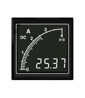 Panel meter 72x72 0,1-40ADC white no. on black backlit APMDCA72-NTW