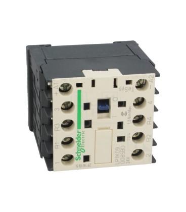 Contactor:cvadripolar 9A 24VDC Montare:DIN 4kW LP1K090085BD