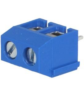 Regletă de conexiuni pt.PCB în unghi 90° 5mm piste: 2 1,5mm2