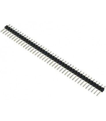 Set 10 bucati Şir pini tată PIN:40 drept 2,54mm THT 1x40 ZL201-40G