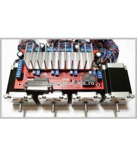 Kit 4 Motoare 1,9Nm si driver bipolar 4 axe CNC4X25A