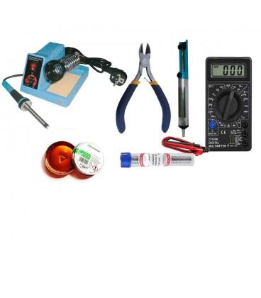 Statie lipit ZD99 multimetru DT830 si accesorii Pompa cositor Sfic colofoniu (sacaz) Fludor