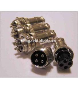 Set de 4 conectori cu 4 pini 4CON4P