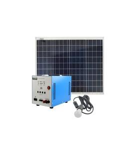 Set solar fotovoltaic portabil MOTOMA 50W (AGM) lumina de la panou solar