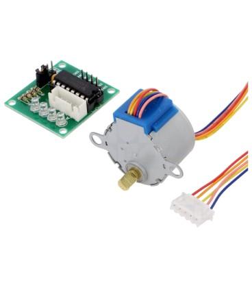 Motor: pas cu pas 5VDC Kit: controler,motor DC IC: ULN2803