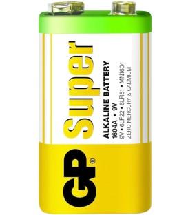 Baterie alcalina Super GP 9V infoliata Cod EAN: 4891199006500