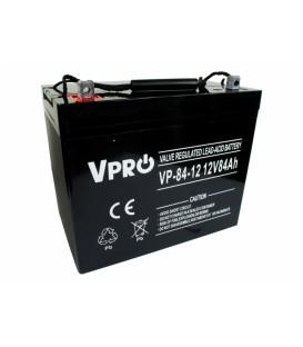 Baterie VPRO 84 Ah 12V AGM VRLA 6AKUAGM084