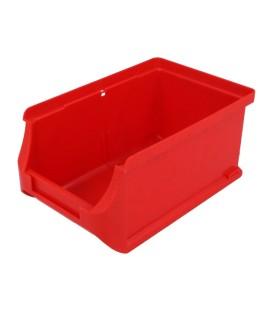 Container: de atelier roşie plastic H: 75mm W: 102mm D: 160mm