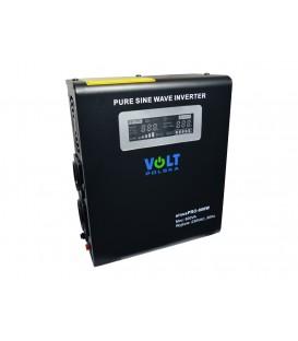 UPS 800VA 500W Sursa tensiune centrala termica cu baterie externa sinusPRO-800W