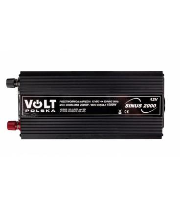 Invertor auto convertor SINUS-2000 12V 1000 / 2000W 12 / 230V Volt 3SIP200012