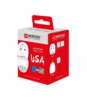 Adaptor priza EU - USA, este recomandat pentru cei calatoresc in tari care folosesc priza standard american.