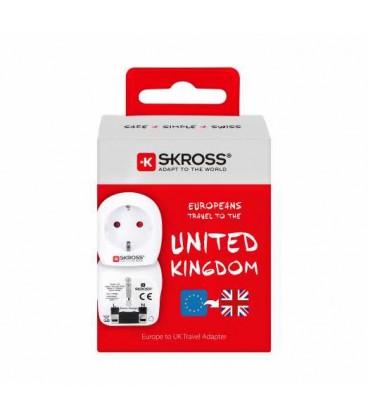 Adaptor priza EU - UK, este recomandat pentru cei calatoresc in tari care folosesc priza standard englez