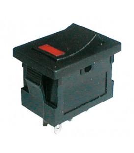 Comutator basculant 2pol./4pin ON-OFF 250V / 3A (LED roșu)