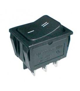 Comutator basculant 2pol./6pin ON-ON 250V / 15A - negru