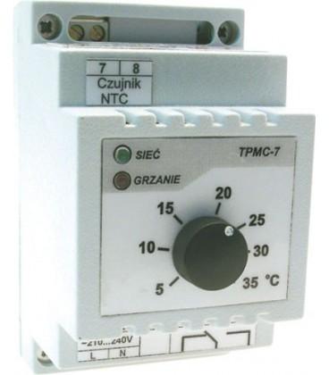 Regulator de temperatură pt.şină DIN +20°C/+50°C,răcire