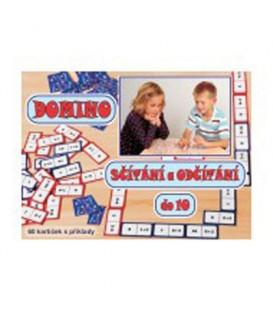 Joc educativ Adăugare și scădere Domino