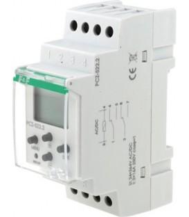 Timer on DIN rail, 2x250 settings, 2 channels PCZ-522