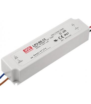 Simbolul clientului: Power supply unit for Led-s 12V 5A 60W