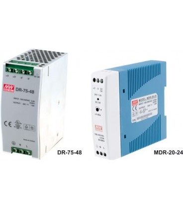 Alimentator:comutare; 40W; 48V; 85÷264VAC; Montare:DIN; 300g
