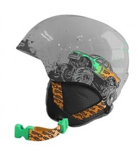 Cască de schi SPOKEY AURORA copii gri cu camion dimensiunea XS