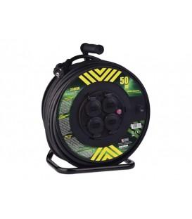 Cablu prelungitor pe tambur - 4 prize 50m EMOS P084503