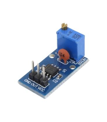 Generator de impulsuri NE555 25x13mm 5÷12VDC şiruri pini