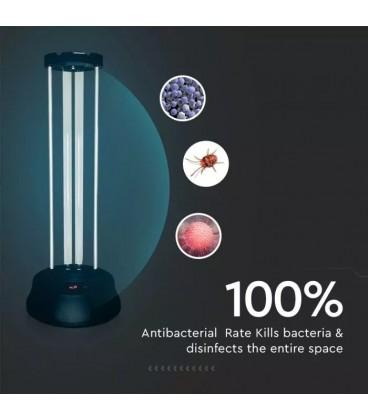 LAMPĂ UVC Sterilizare germicida 38W CU SENZOR ȘI TElecomanda Dublă protecție UV si Ozon