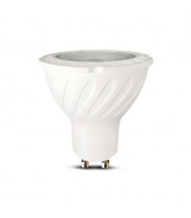 Reflector LED cu Cip SAMSUNG - GU10 7W Plastic SMD cu lentilă 3000K