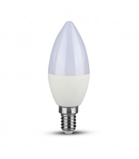 Bec LED - Chip SAMSUNG 5.5W E14 Lumânare Plastic Lumină neutră