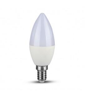 Bec LED - Chip SAMSUNG 5.5W E14 Lumânare Plastic Lumină rece