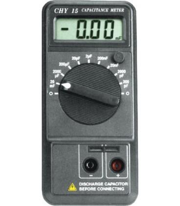 Aparat pt.măsurarea capacităţii; LCD 3,5 cifre