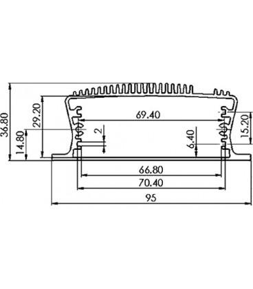 Cutie Aluminiu Extrudat CP-17-128
