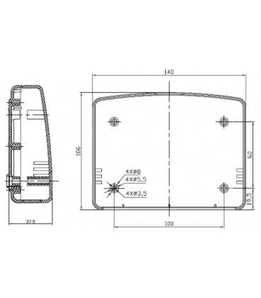 Carcasă:întrebuinţări multiple 140X106X38mm ABS