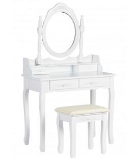 Masă de vanitate 90cm oglindă + scaun