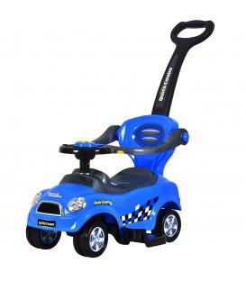 O plimbare cu o mașină albastră
