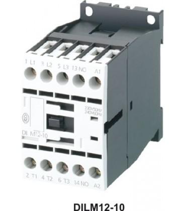 Contactor:tripolar Contacte auxiliare:NO Iînc max:12A 24VDC DILM12-10-24VDC