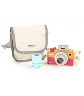 Geantă de jucărie pentru aparat de fotografiat din lemn caleidoscop ECOTOYS