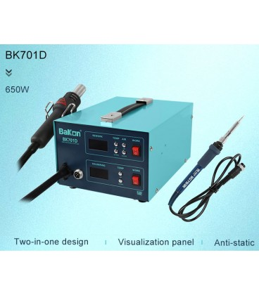stație de lipit cu afișaj digital și stație aer cald 2 în 1 BK701D