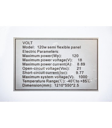 PANOU FOTOVOLTAIC FLEXI 120W 12V FLEXIBIL DOAR 3 mm GROSIME